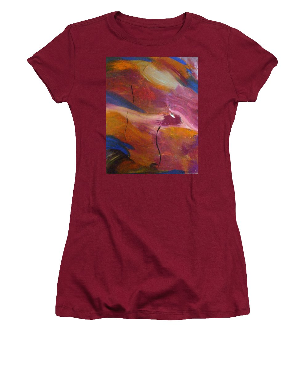 Abstract Art Women's T-Shirt (Athletic Fit) featuring the painting Broken Heart by Kelly Turner