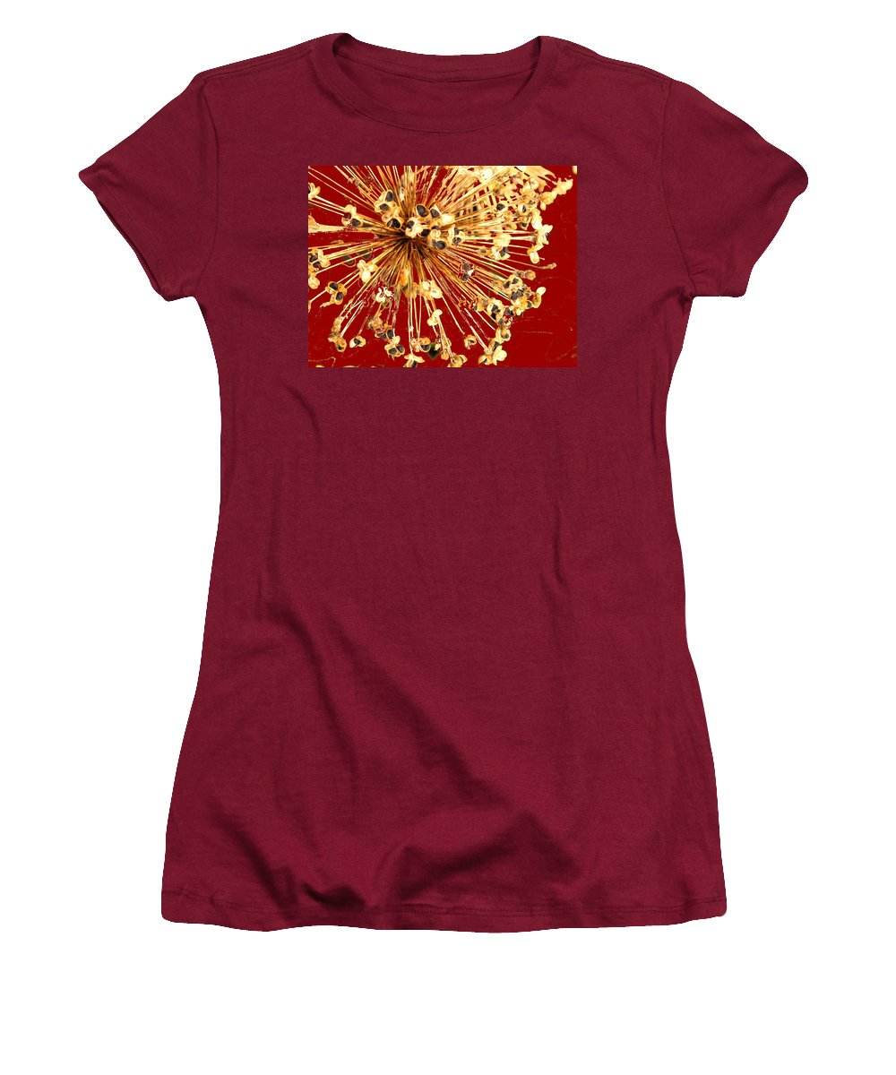 Explosion Women's T-Shirt (Athletic Fit) featuring the photograph Explosion Enhanced by Ian MacDonald