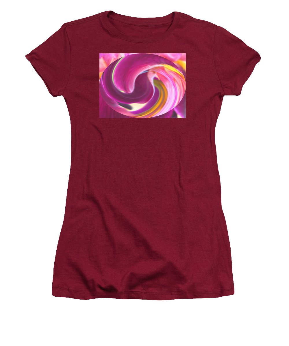 Purple Women's T-Shirt (Athletic Fit) featuring the digital art Fire In My Soul by Ian MacDonald