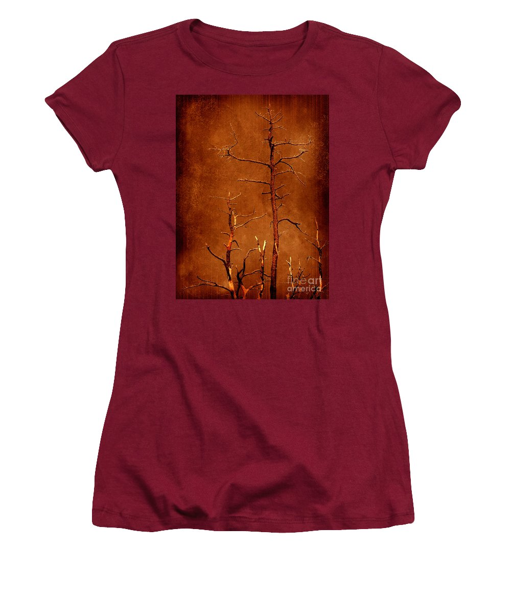 Dipasquale Women's T-Shirt (Athletic Fit) featuring the photograph Left Bare And Broken by Dana DiPasquale