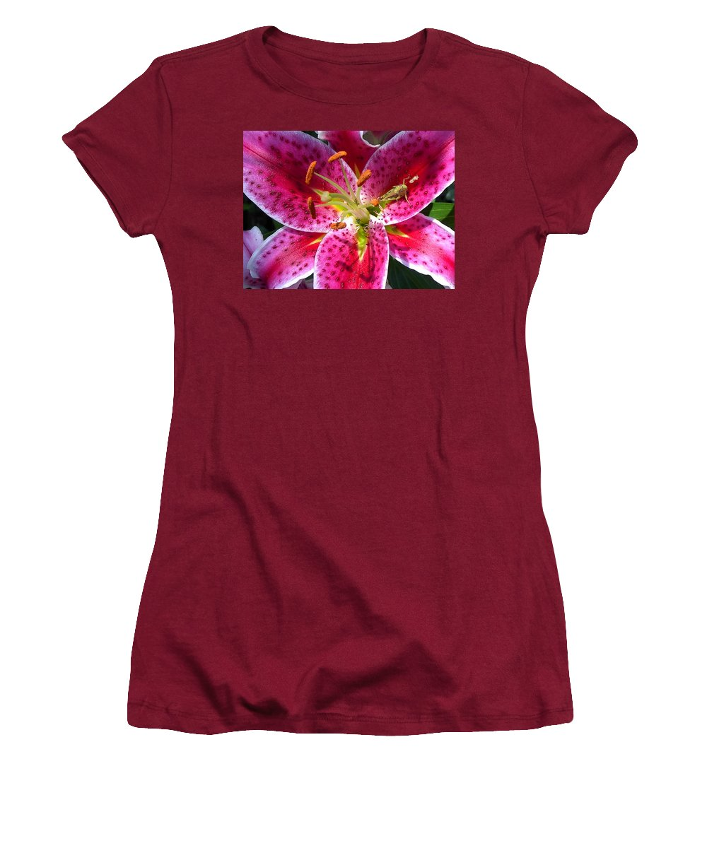 Charity Women's T-Shirt (Athletic Fit) featuring the photograph Lily by Mary-Lee Sanders