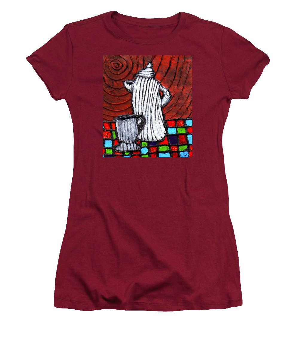 Tea Women's T-Shirt (Athletic Fit) featuring the painting Looking For Something Hot by Wayne Potrafka