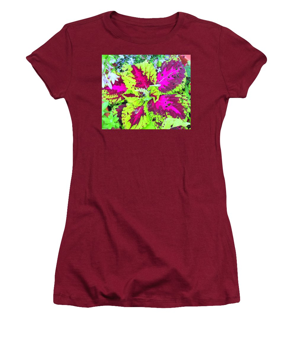 Flower Women's T-Shirt (Athletic Fit) featuring the photograph Natural Abstraction by Ian MacDonald