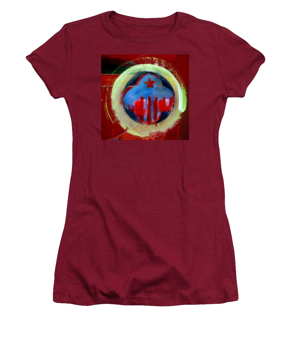 American State Women's T-Shirt (Athletic Fit) featuring the painting Nebraska by Charles Stuart