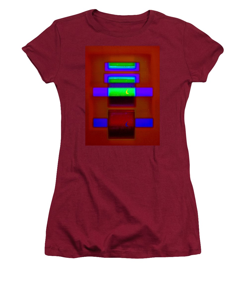 Rothko Women's T-Shirt (Athletic Fit) featuring the painting Nile Totem by Charles Stuart
