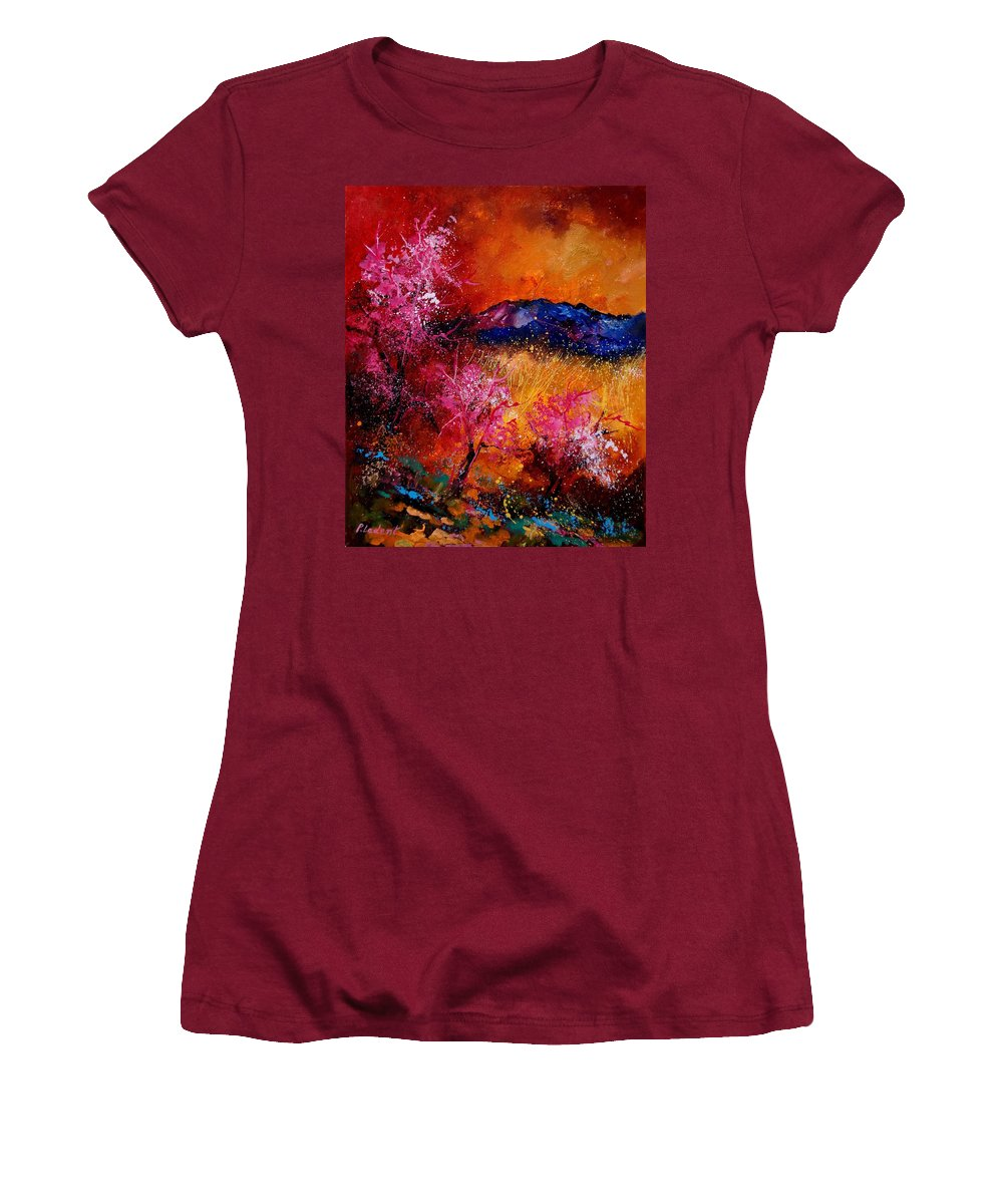 Provence Women's T-Shirt (Athletic Fit) featuring the painting Provence560908 by Pol Ledent