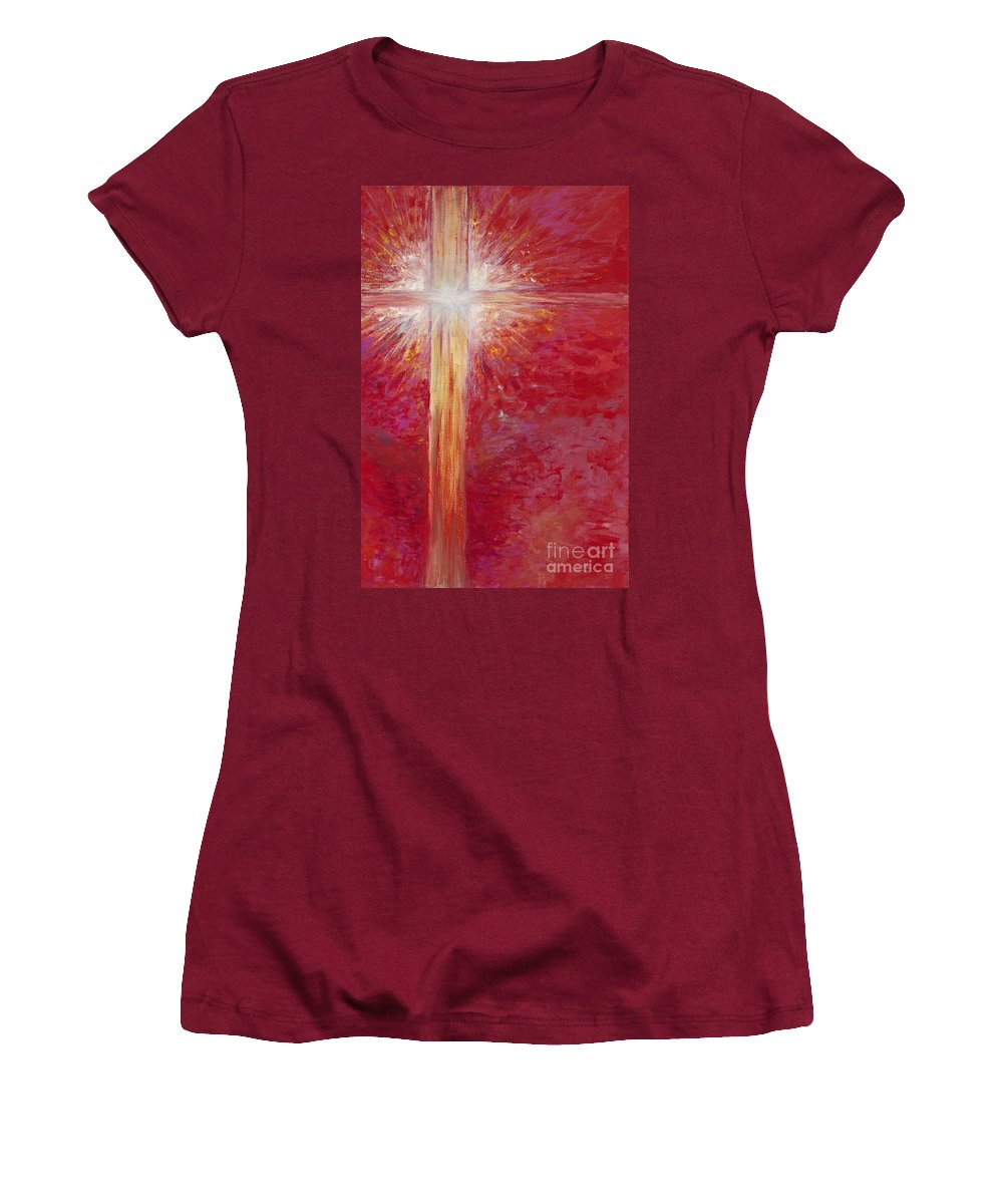 Light Women's T-Shirt (Athletic Fit) featuring the painting Pure Light by Nadine Rippelmeyer