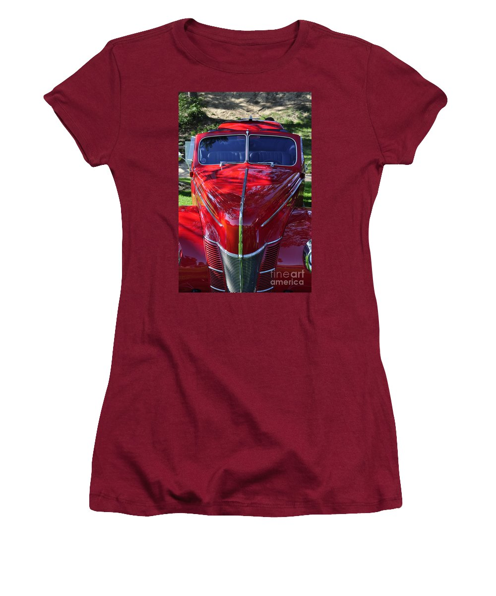 Clay Women's T-Shirt (Athletic Fit) featuring the photograph Red Hot Rod by Clayton Bruster