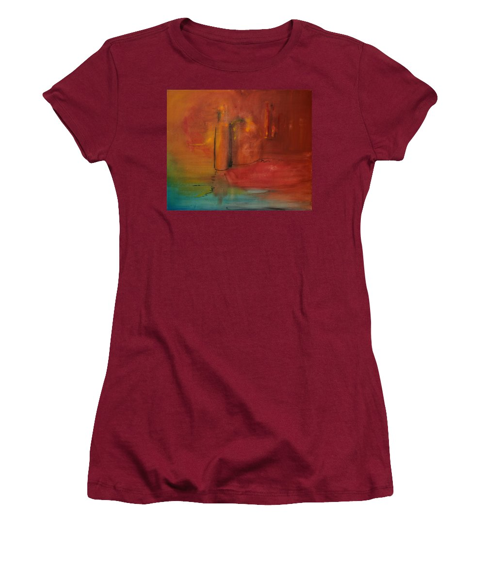 Still Women's T-Shirt (Athletic Fit) featuring the painting Reflection Of Still Life by Jack Diamond