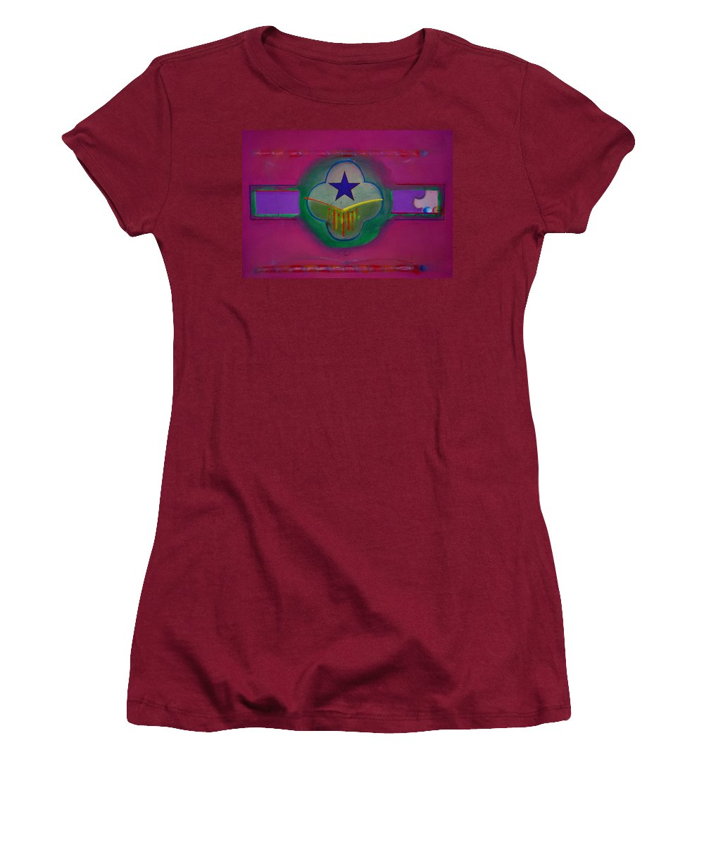 Star Women's T-Shirt (Athletic Fit) featuring the painting Star Of Venice by Charles Stuart