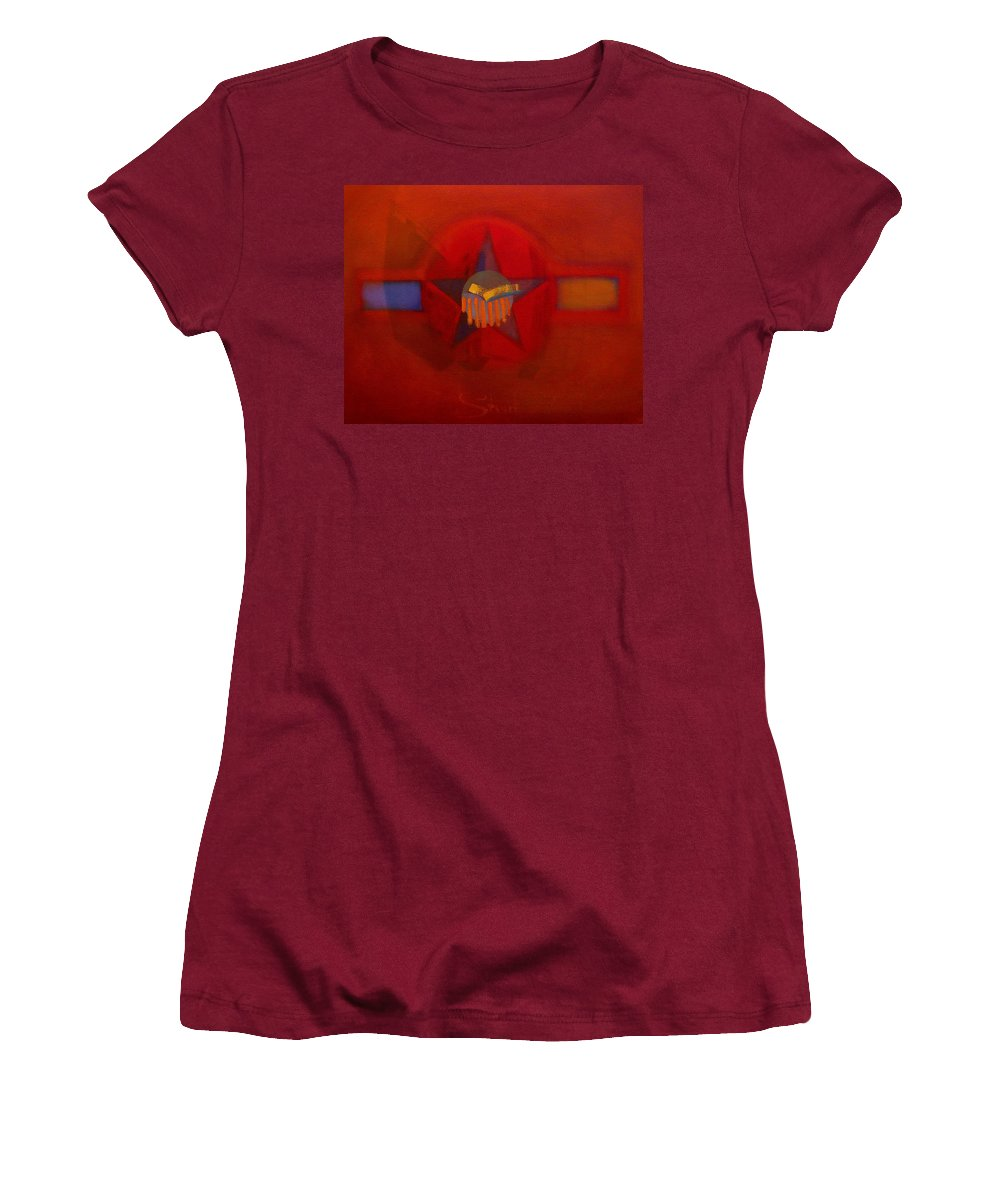 Warm Women's T-Shirt (Athletic Fit) featuring the painting Sub Decal by Charles Stuart