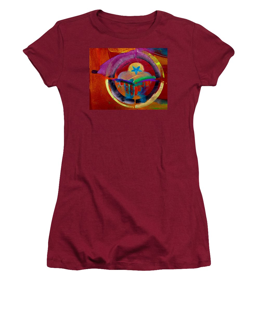 Button Women's T-Shirt (Athletic Fit) featuring the painting Texicana by Charles Stuart