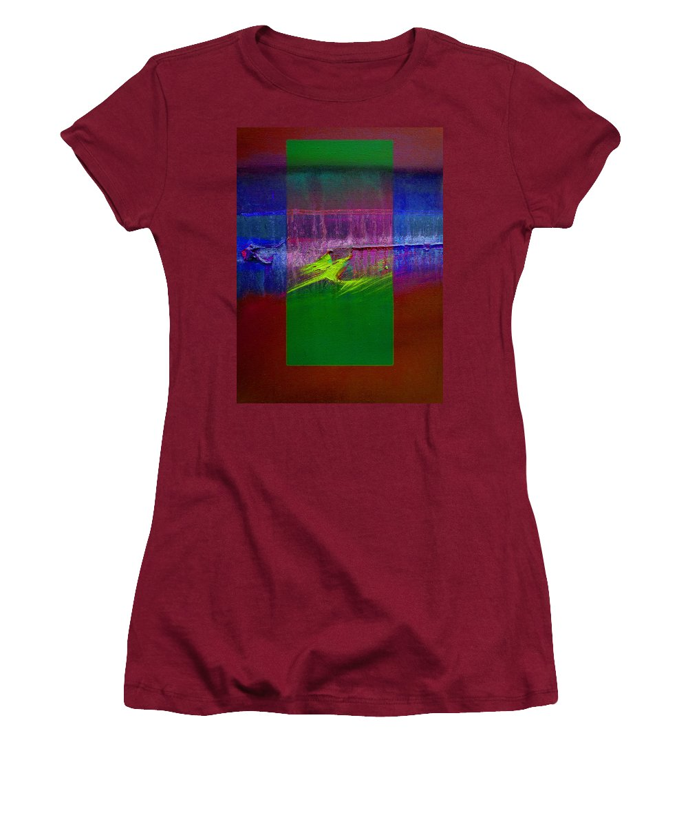 Landscape Women's T-Shirt (Athletic Fit) featuring the painting The Green Dragon by Charles Stuart