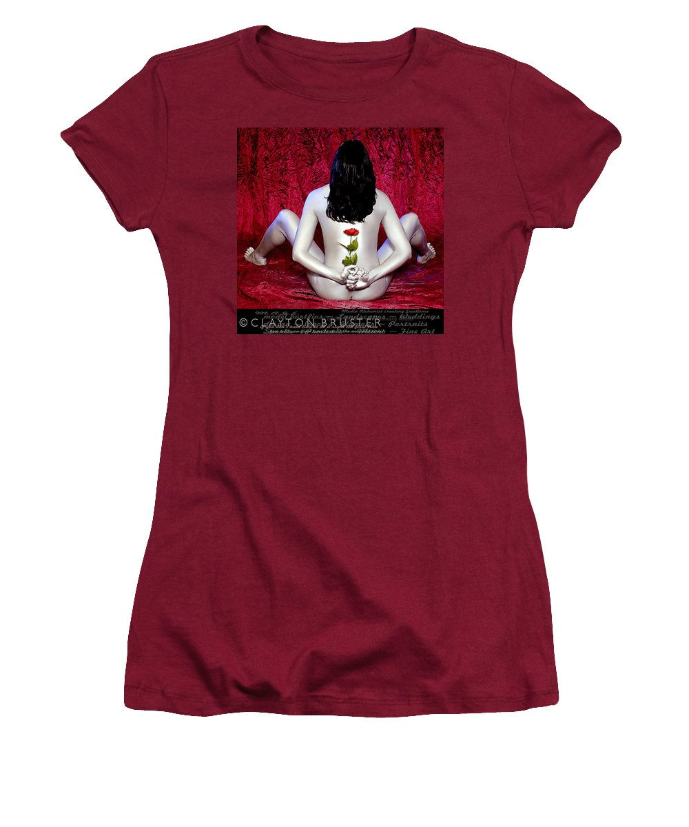Clay Women's T-Shirt (Athletic Fit) featuring the photograph The Rose by Clayton Bruster