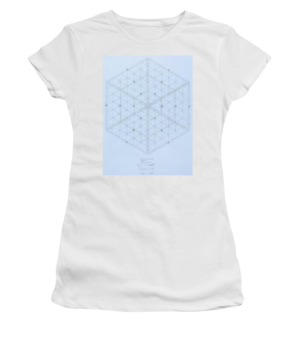 Energy Women's T-Shirt featuring the drawing Why Energy Equals Mass Times the Speed of Light Squared by Jason Padgett