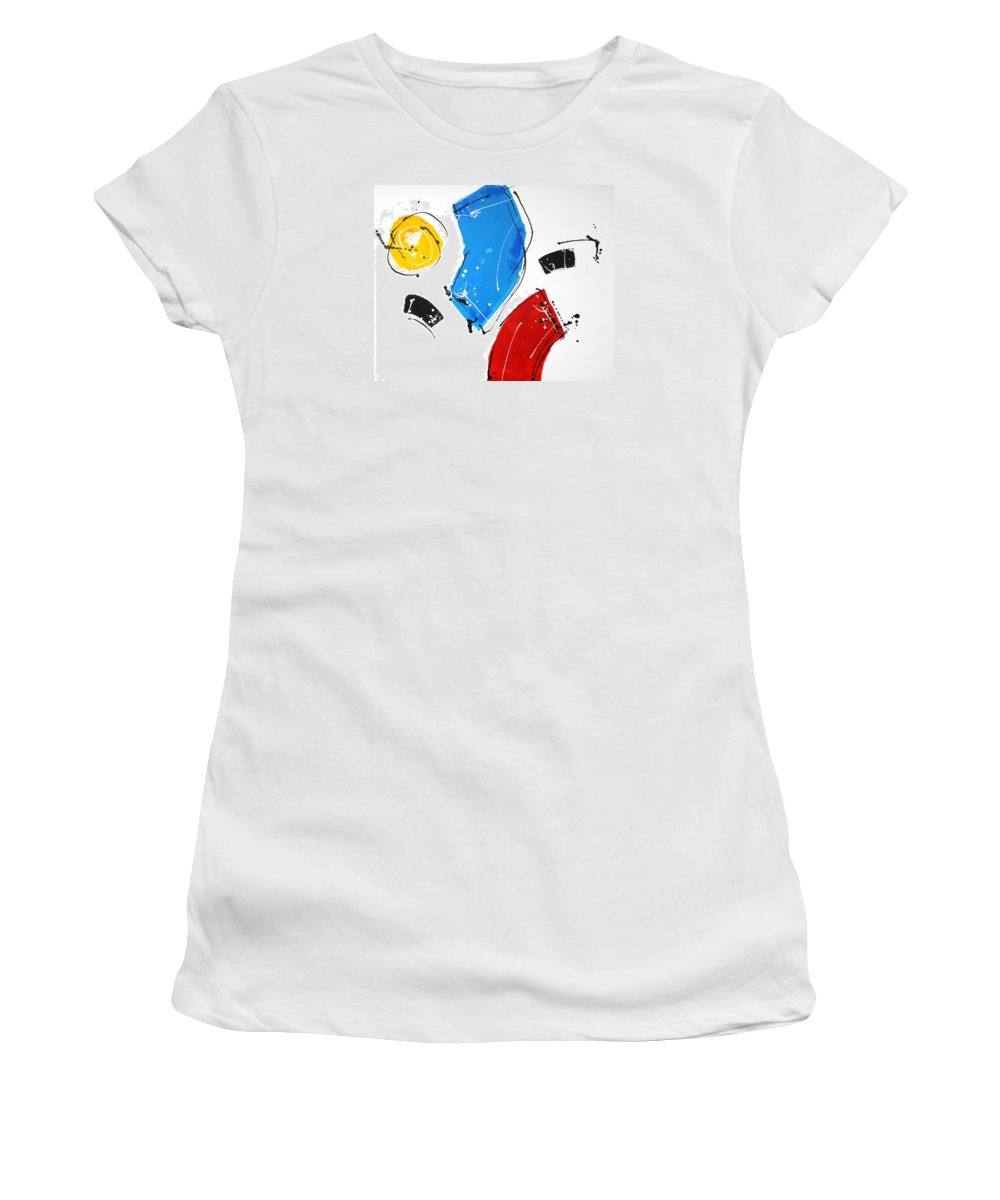 Abstract Women's T-Shirt featuring the painting 010222 by Toshio Sugawara