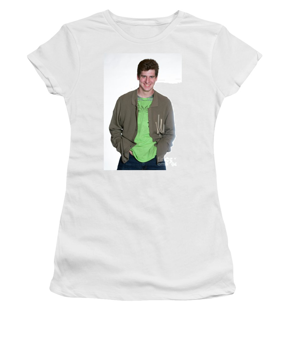 Women's T-Shirt (Athletic Fit) featuring the photograph 03 by Gunter Nezhoda