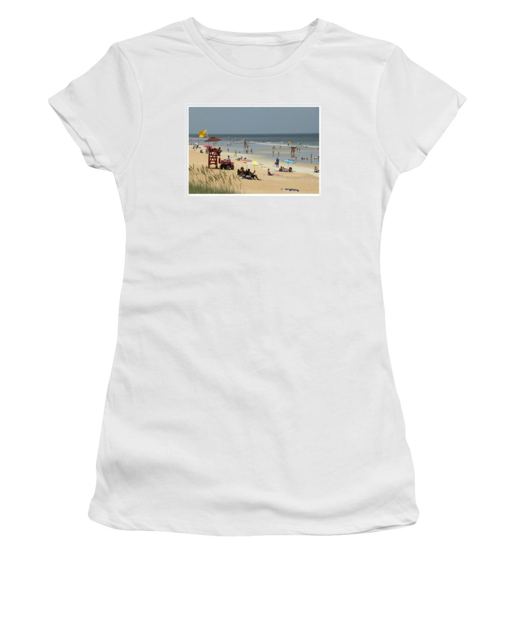 Flagler Beach Women's T-Shirt featuring the photograph A Day At The Beach by Alice Gipson
