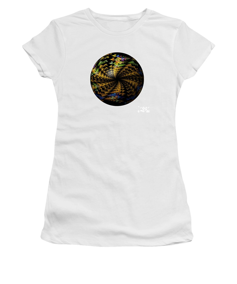 Globe Women's T-Shirt (Athletic Fit) featuring the digital art Abstract Globe by Henrik Lehnerer
