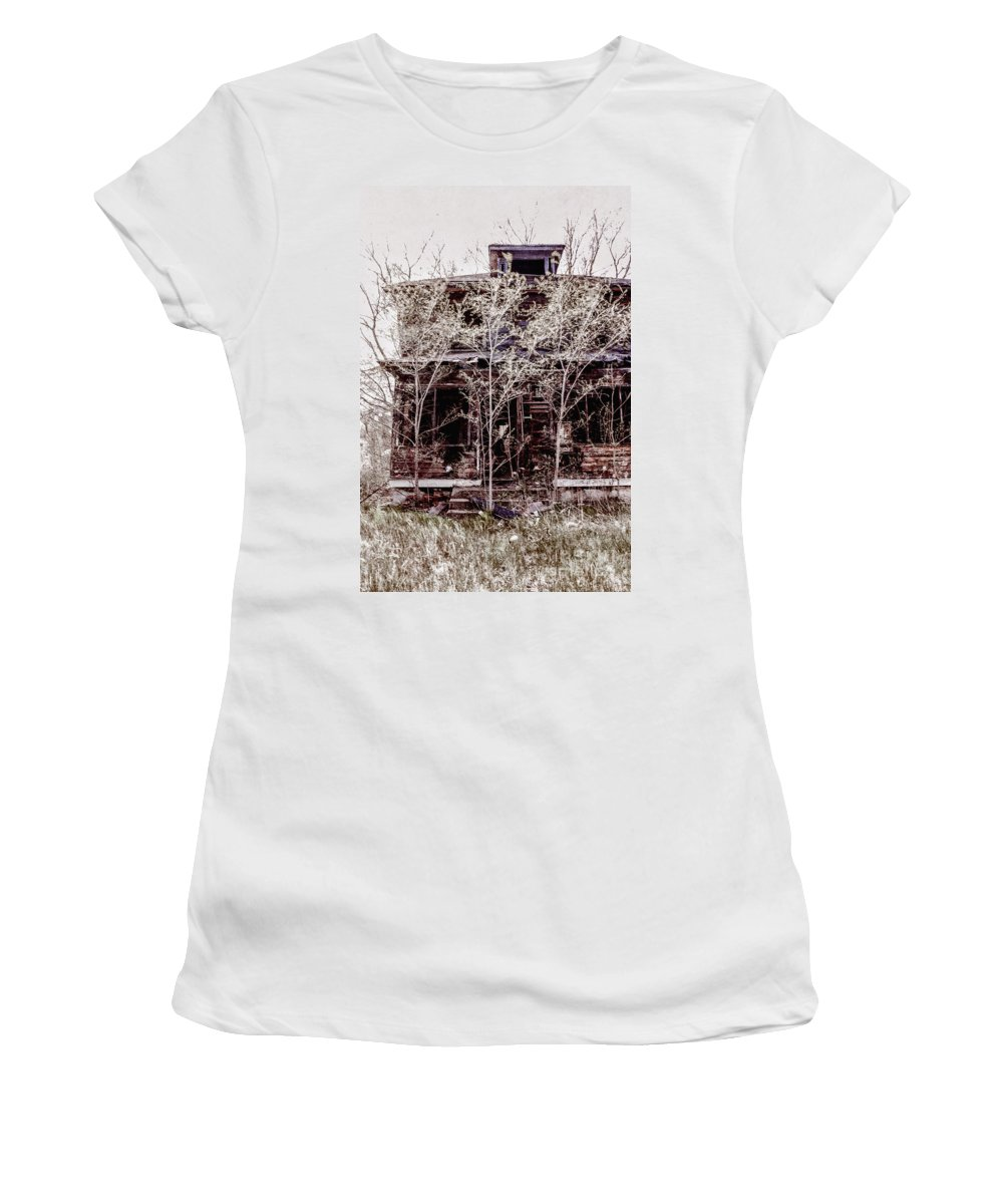 House Women's T-Shirt featuring the photograph Aftermath by Margie Hurwich
