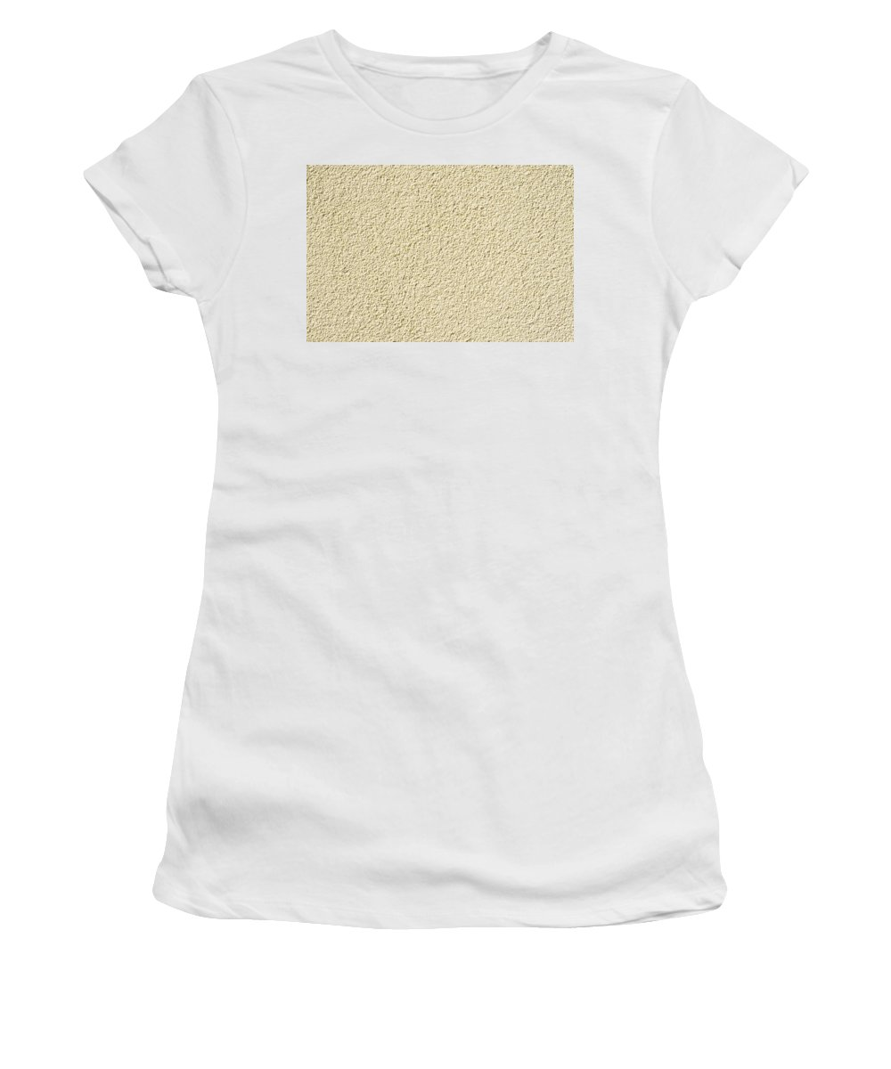 Abstract Women's T-Shirt (Athletic Fit) featuring the photograph Cement - Stucco Wall Texture by Alain De Maximy