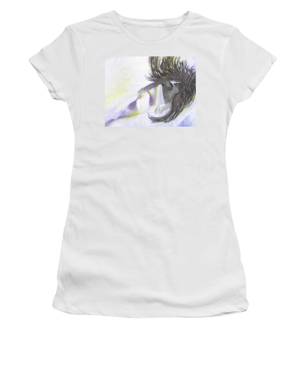 Good Morning Sunshine Women's T-Shirt featuring the painting Good Morning Sunshine by Angela Stanton