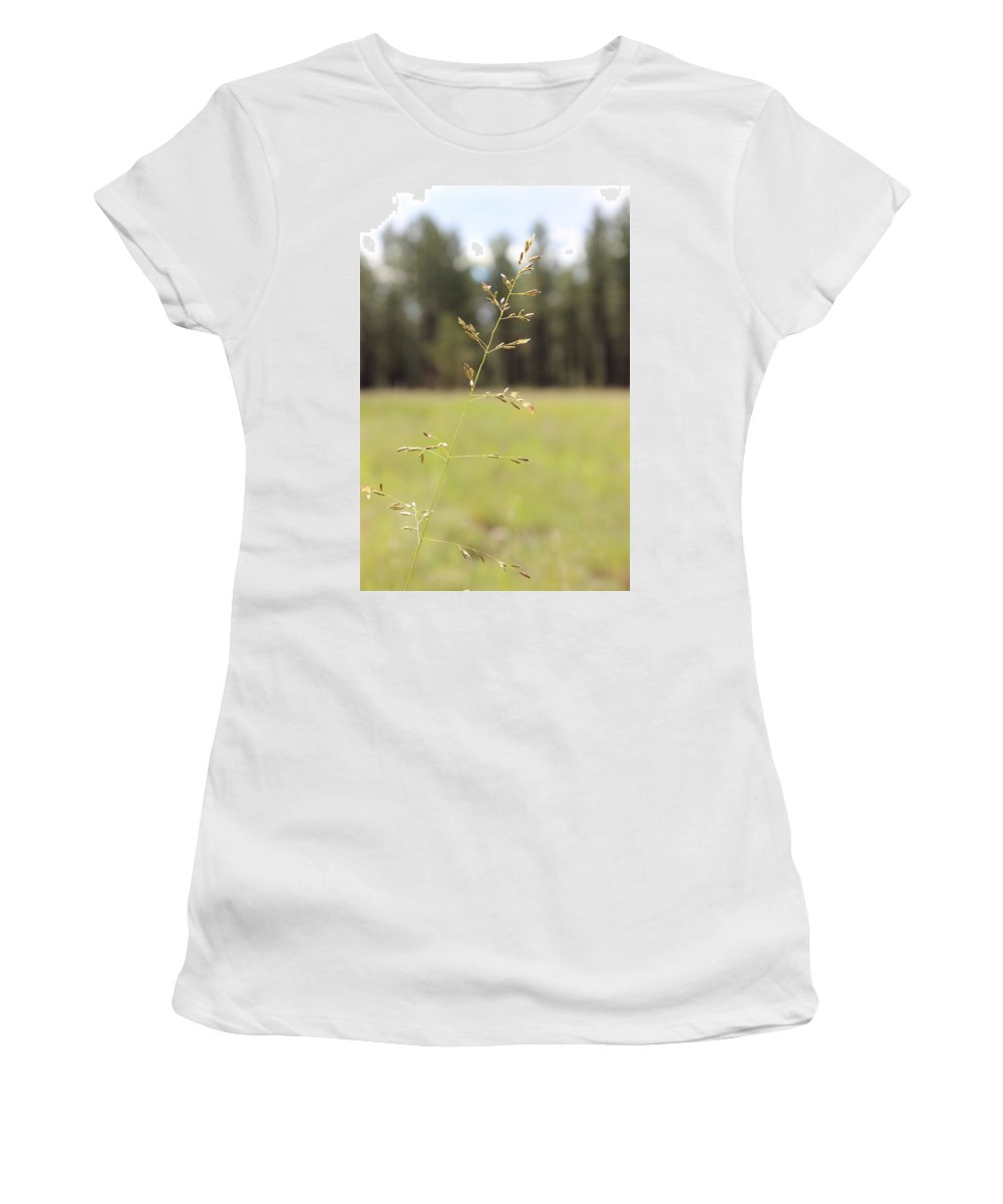 Grassy Meadow Women's T-Shirt (Athletic Fit) featuring the photograph Grassy Meadow by Kume Bryant