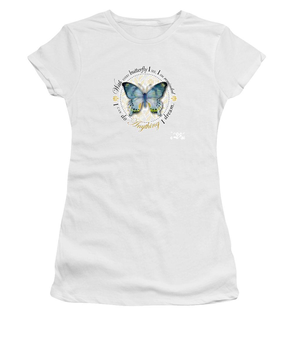 Laglaizei Women's T-Shirt featuring the painting I Can Do Anything I Dream by Amy Kirkpatrick