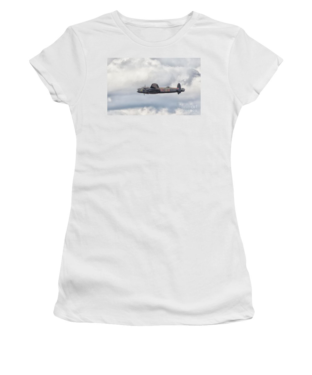 Aeroplane Women's T-Shirt featuring the photograph Lancster by Shaun Wilkinson