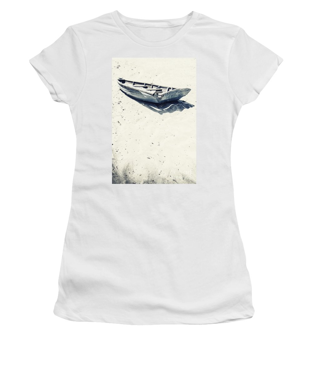 Boat Women's T-Shirt featuring the photograph Left by Margie Hurwich