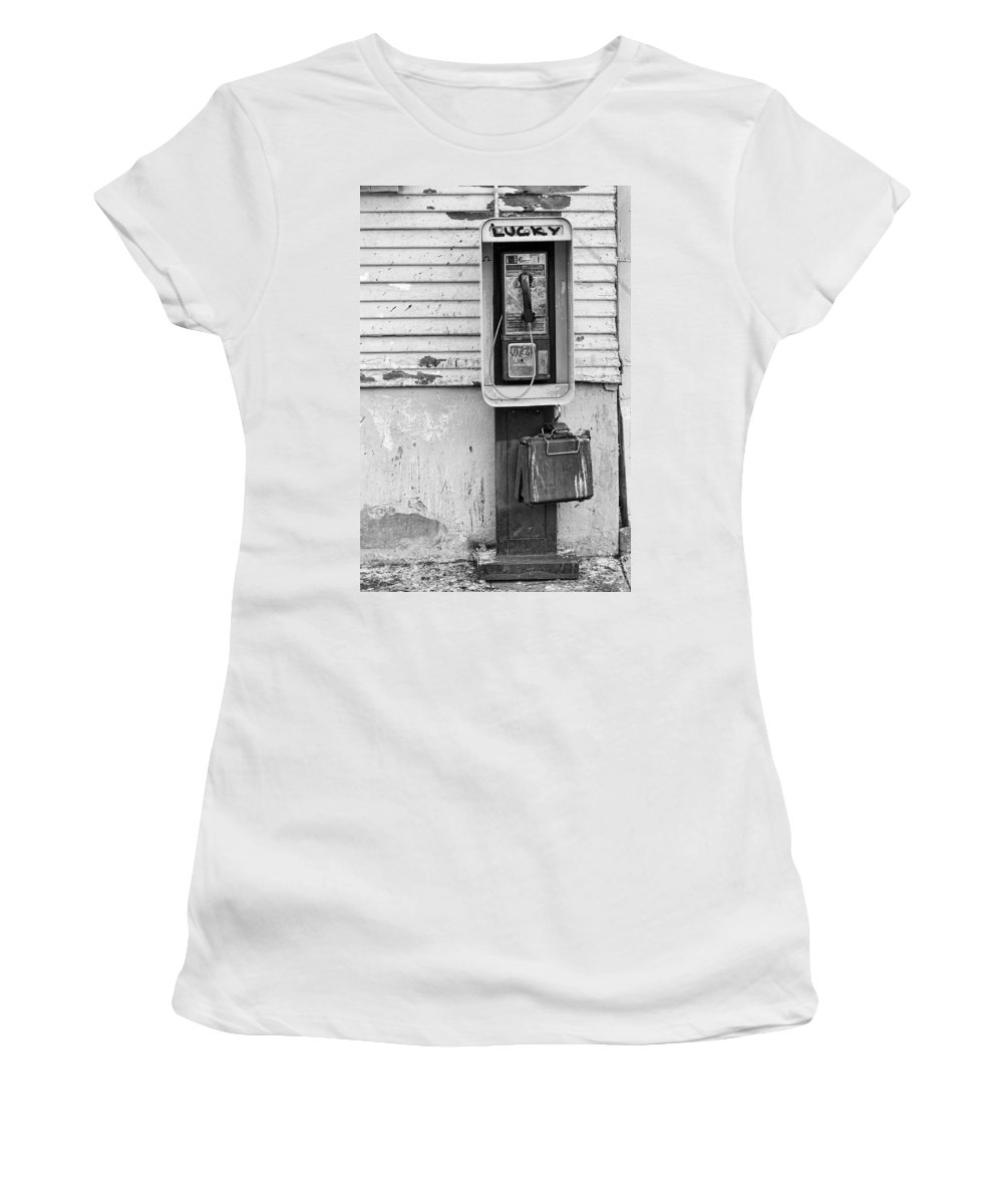 Black & White Women's T-Shirt (Athletic Fit) featuring the photograph Lucky by Peter Tellone
