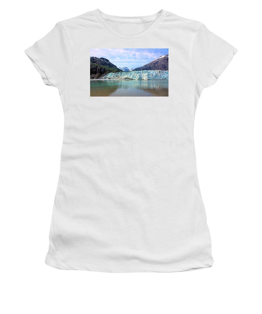 Margerie Glacier Women's T-Shirt featuring the photograph Margerie Glacier by Kristin Elmquist