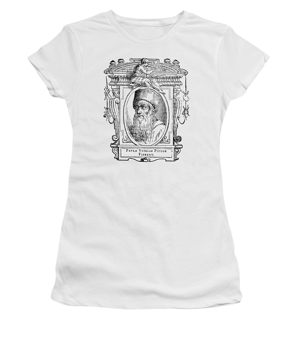 15th Century Women's T-Shirt (Athletic Fit) featuring the painting Paolo Uccello (1397-1475) by Granger