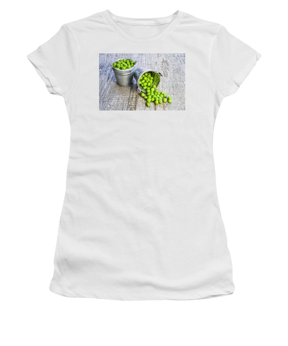 Ice Women's T-Shirt (Athletic Fit) featuring the photograph Peas by Paulo Goncalves