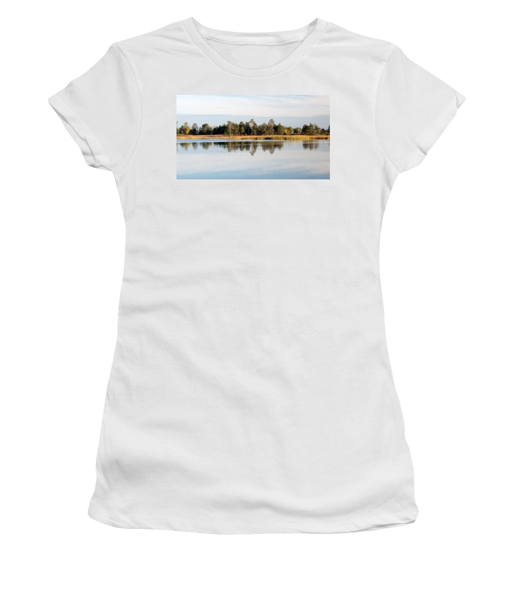 Upper Peninsula Women's T-Shirt (Athletic Fit) featuring the photograph Picture Perfect by Linda Kerkau