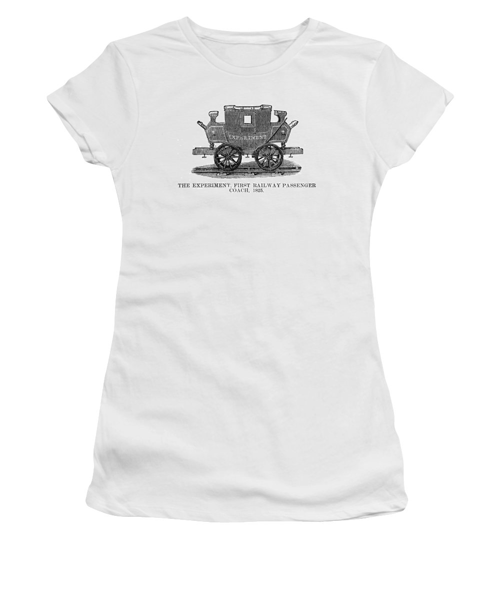 1825 Women's T-Shirt (Athletic Fit) featuring the painting Railroad Passenger Car by Granger