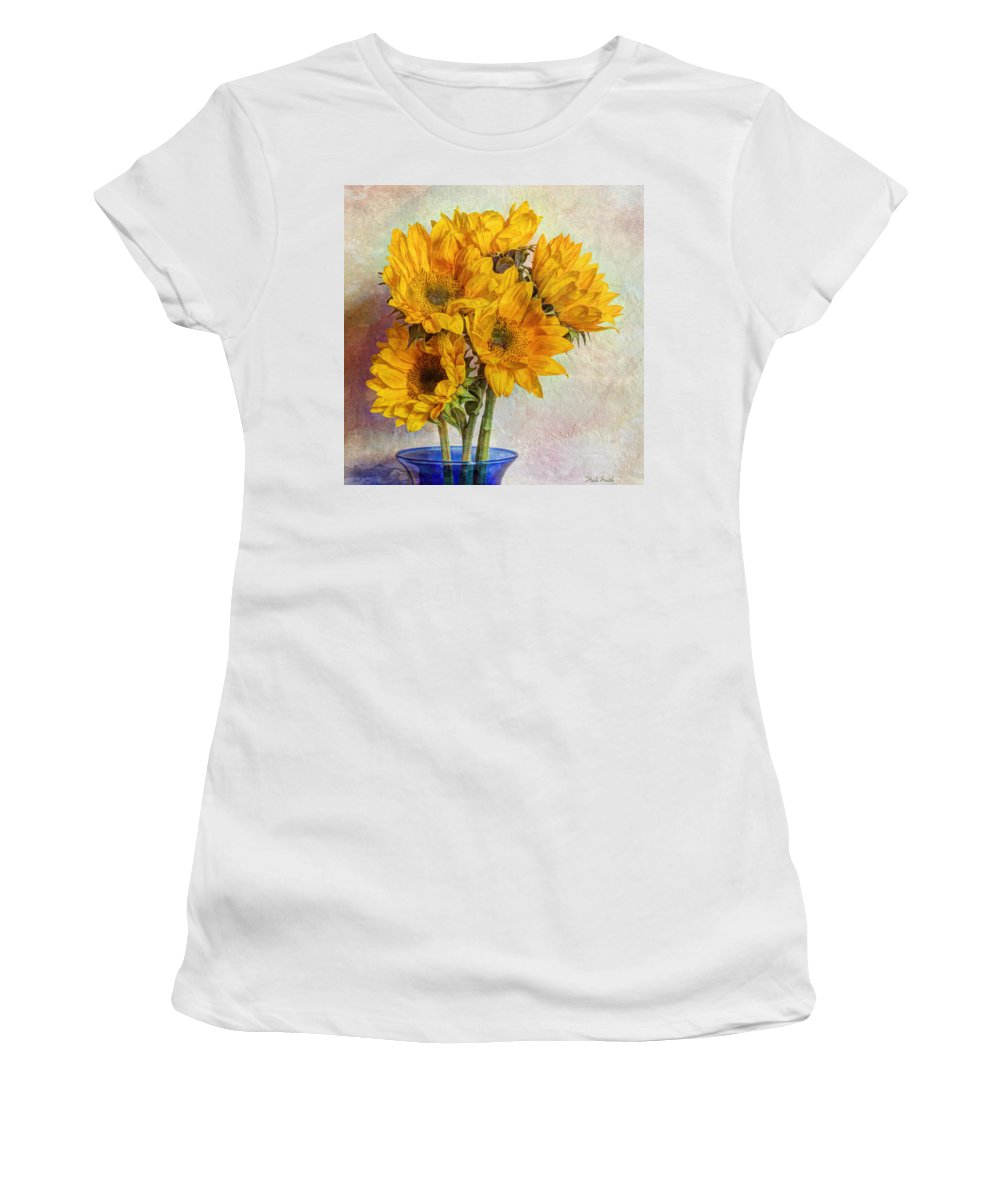 Yellow Women's T-Shirt (Athletic Fit) featuring the photograph Reaching For The Sun by Heidi Smith