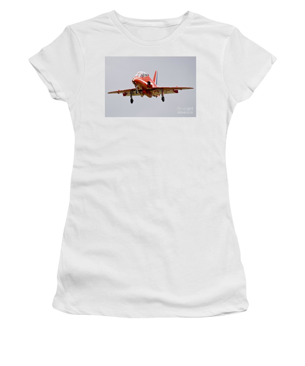 Red Arrows Women's T-Shirt (Athletic Fit) featuring the photograph Red Arrow by J Biggadike