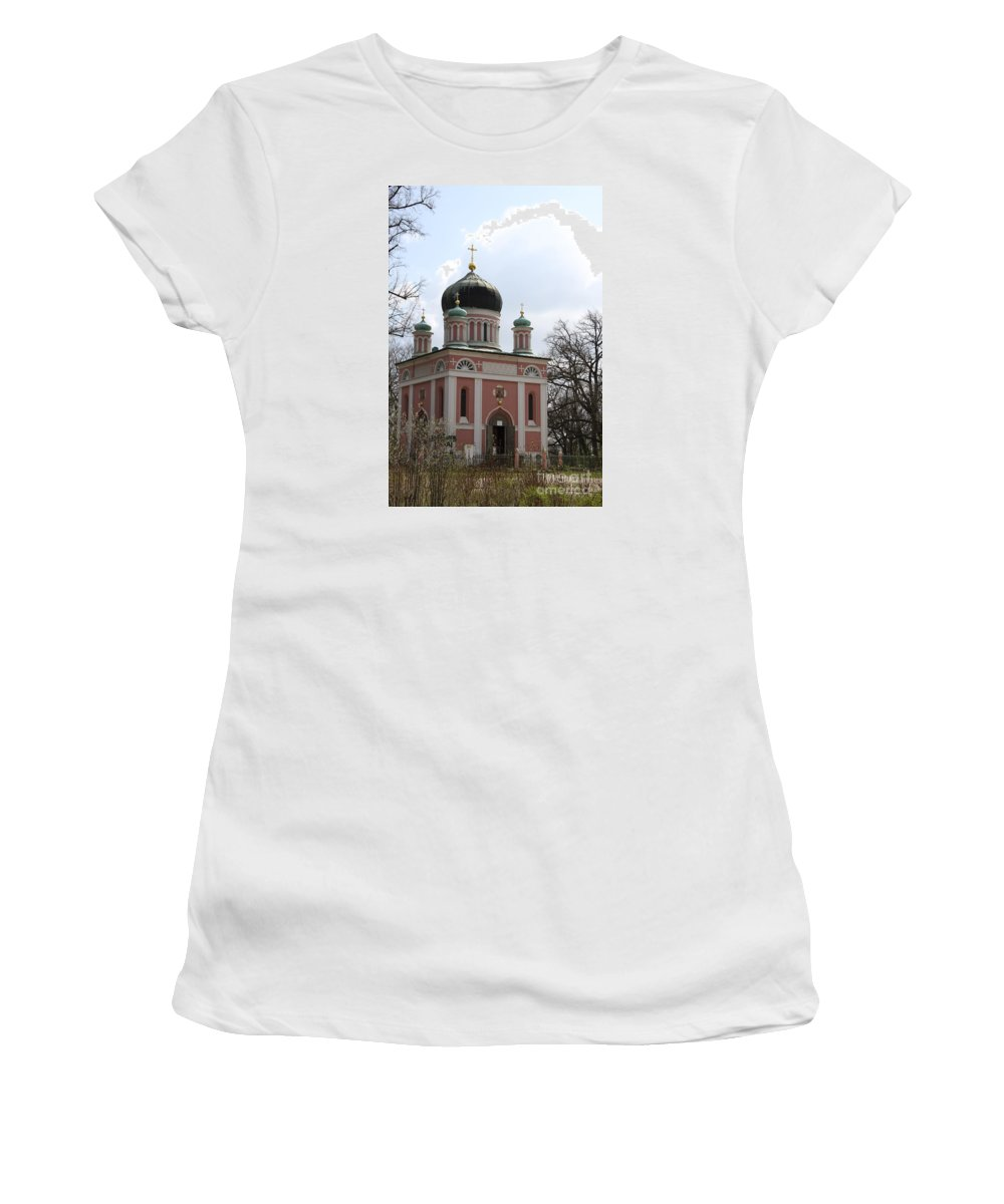 Church Women's T-Shirt (Athletic Fit) featuring the photograph Russian Church by Christiane Schulze Art And Photography