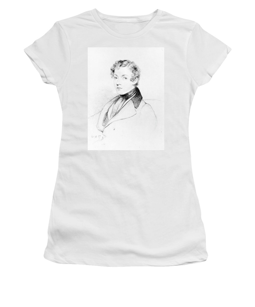 1837 Women's T-Shirt (Athletic Fit) featuring the drawing Sir Charles Wheatstone (1802-1875) by Granger