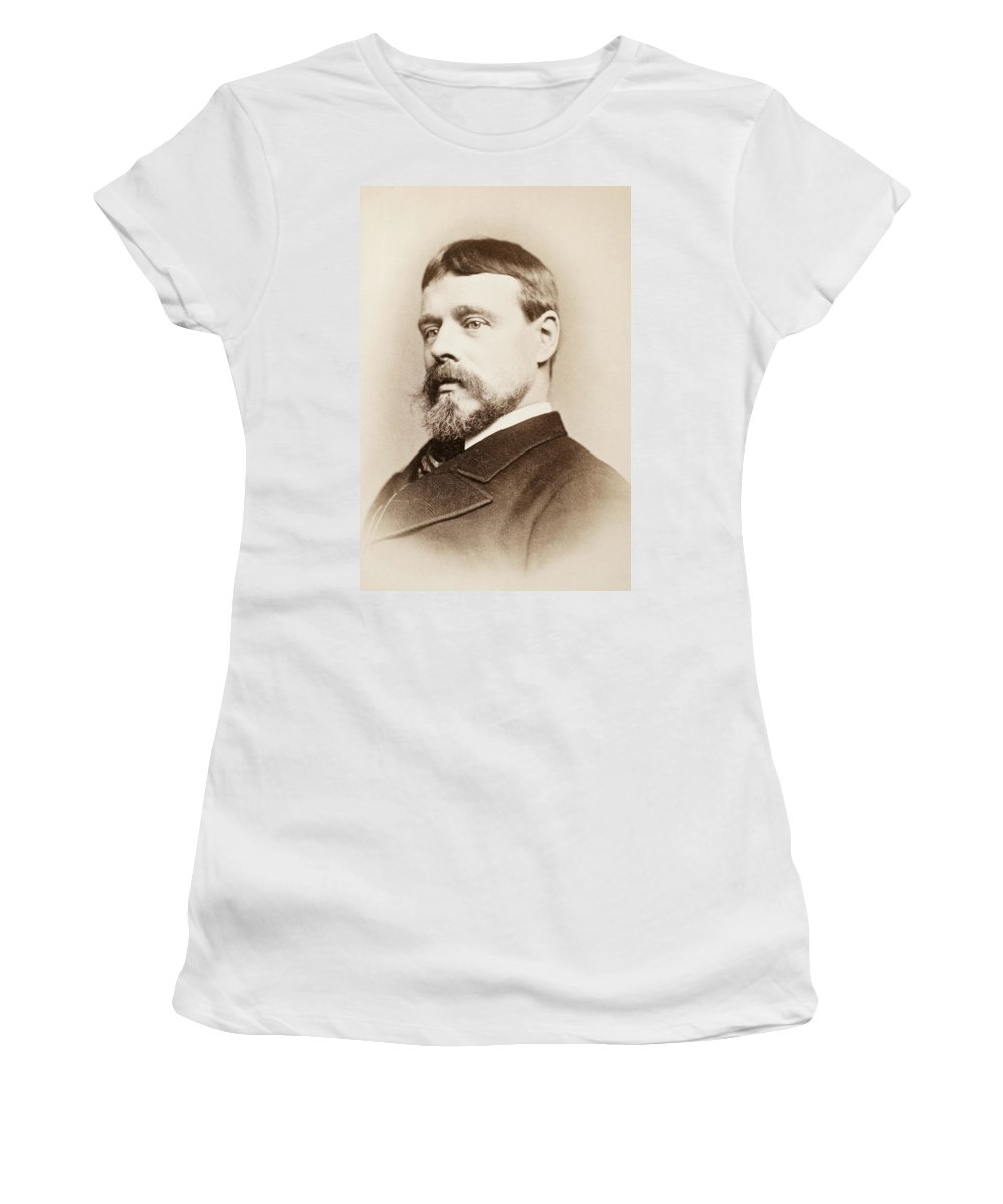 19th Century Women's T-Shirt (Athletic Fit) featuring the photograph Sir Lawrence Alma-tadema (1836-1912) by Granger