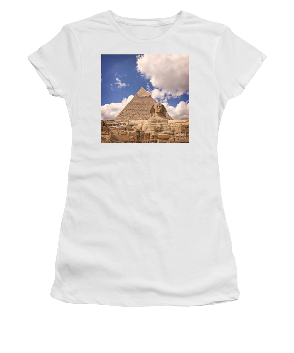 Unesco Women's T-Shirt (Athletic Fit) featuring the photograph Sphinx by Sophie McAulay