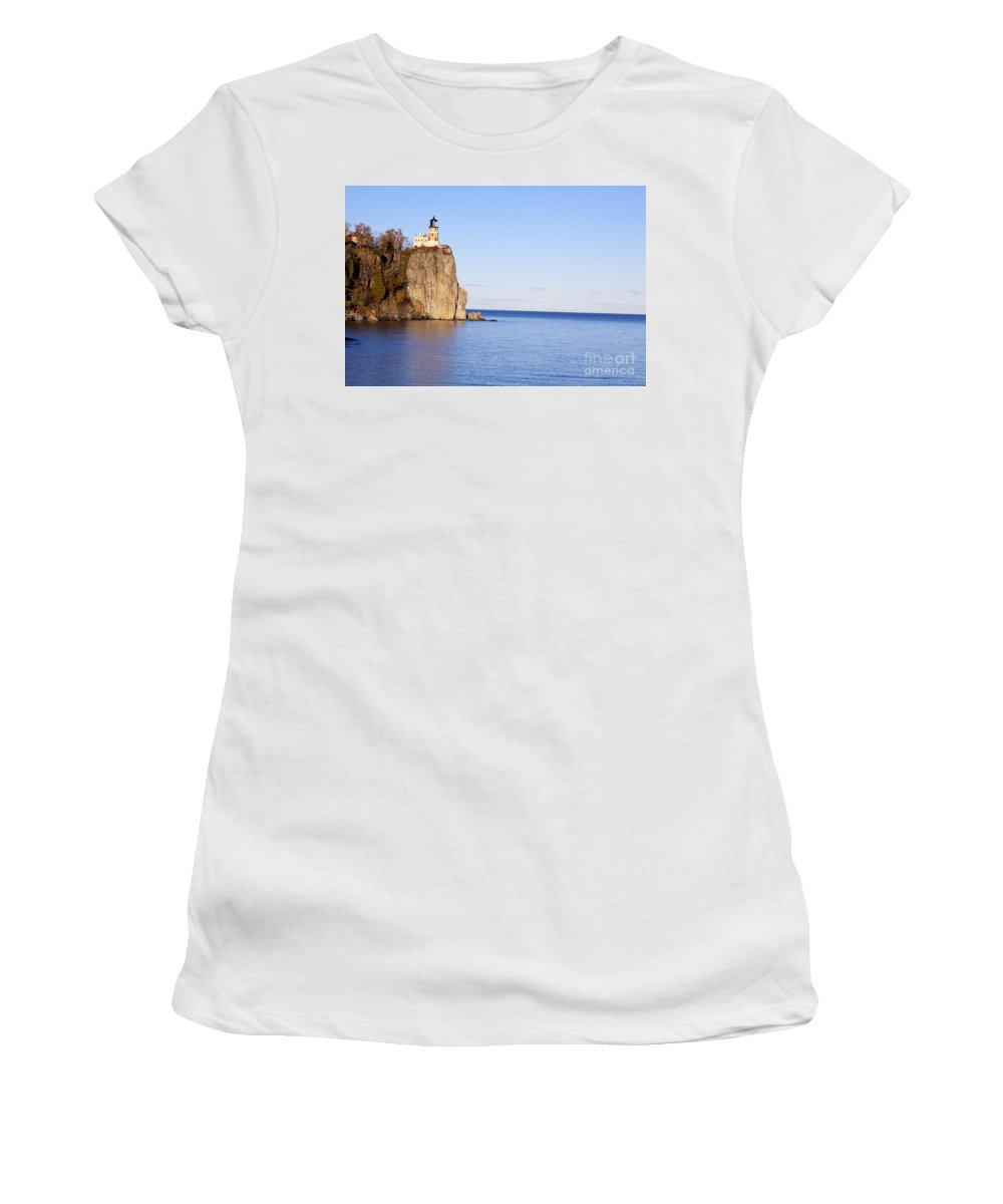 Split Rock Lighthouse Women's T-Shirt featuring the photograph Split Rock Lighthouse by Anthony Totah