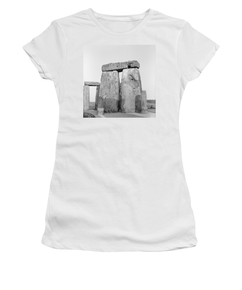 Stone Women's T-Shirt featuring the photograph Stonehenge by Anonymous