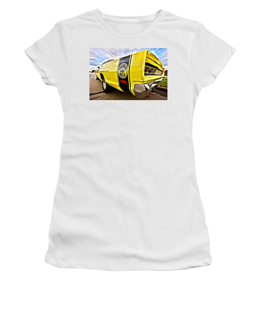 Dodge Women's T-Shirt (Athletic Fit) featuring the photograph Super Close Super Bee by Gordon Dean II