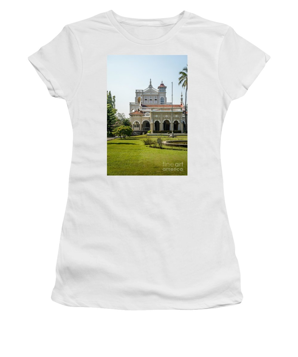 Palace Women's T-Shirt (Athletic Fit) featuring the photograph The Aga Khan Palace by Kiran Joshi
