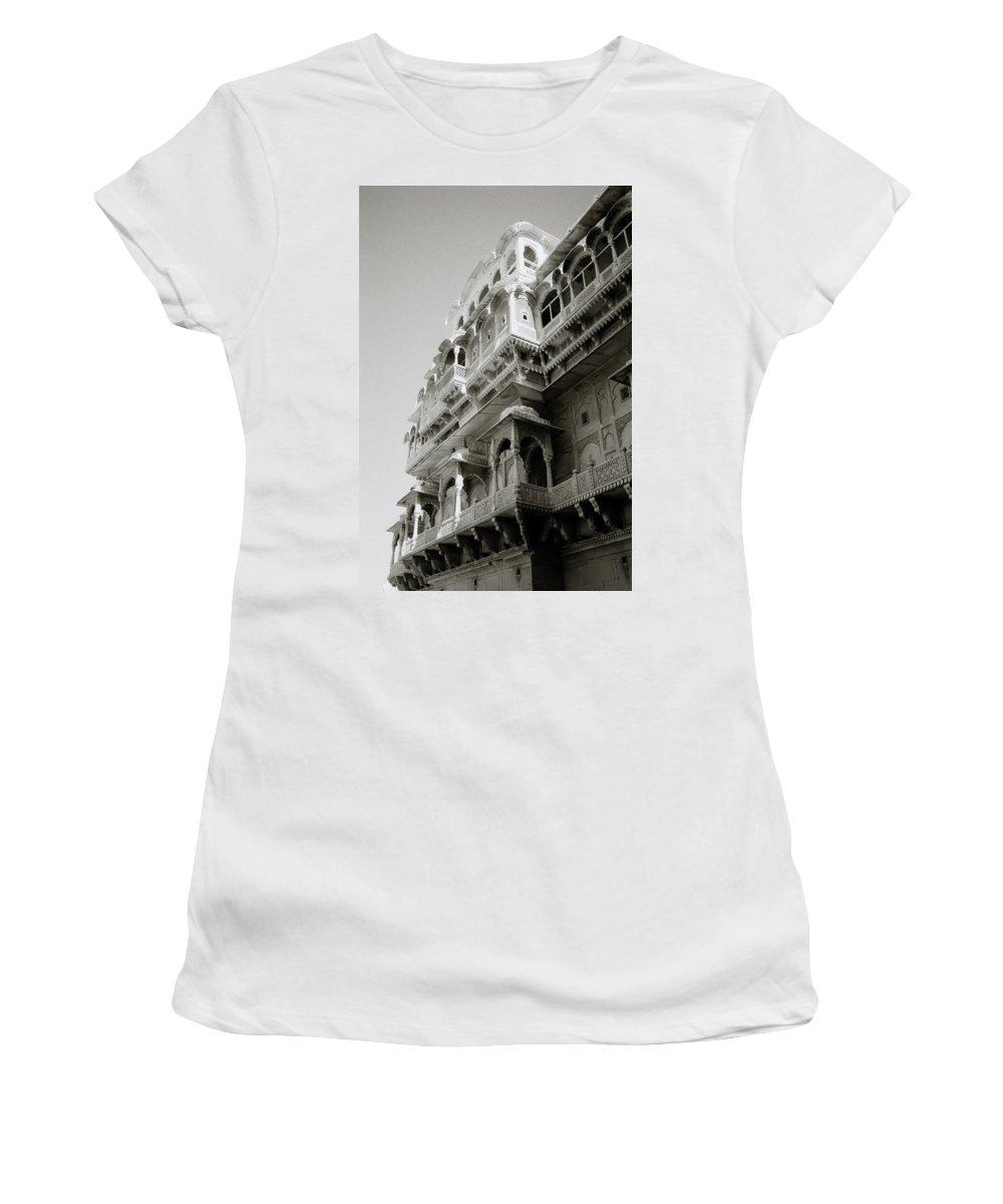Jaisalmer Women's T-Shirt featuring the photograph The City Palace by Shaun Higson