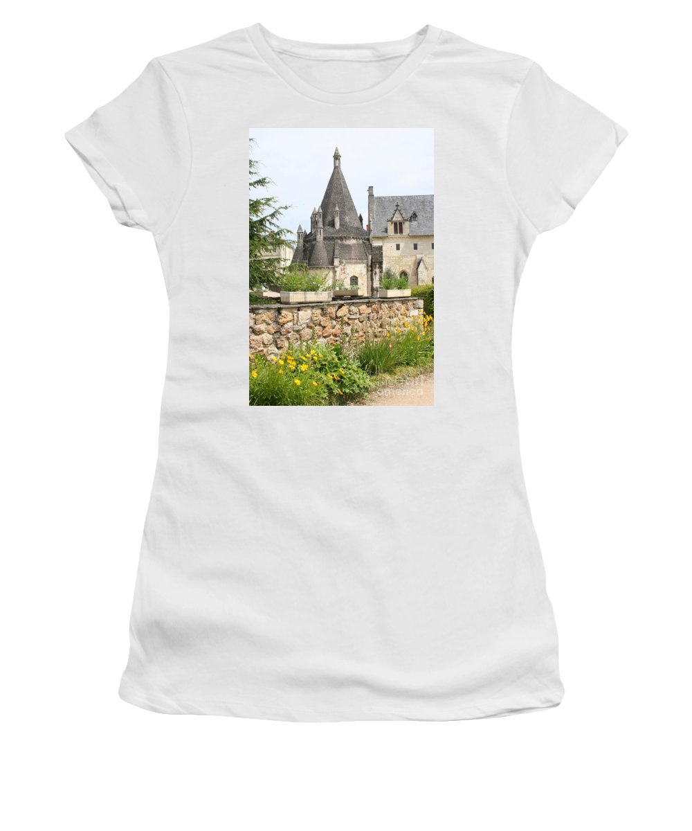 Kitchen Women's T-Shirt featuring the photograph The Kitchenbuilding Of Abbey Fontevraud by Christiane Schulze Art And Photography