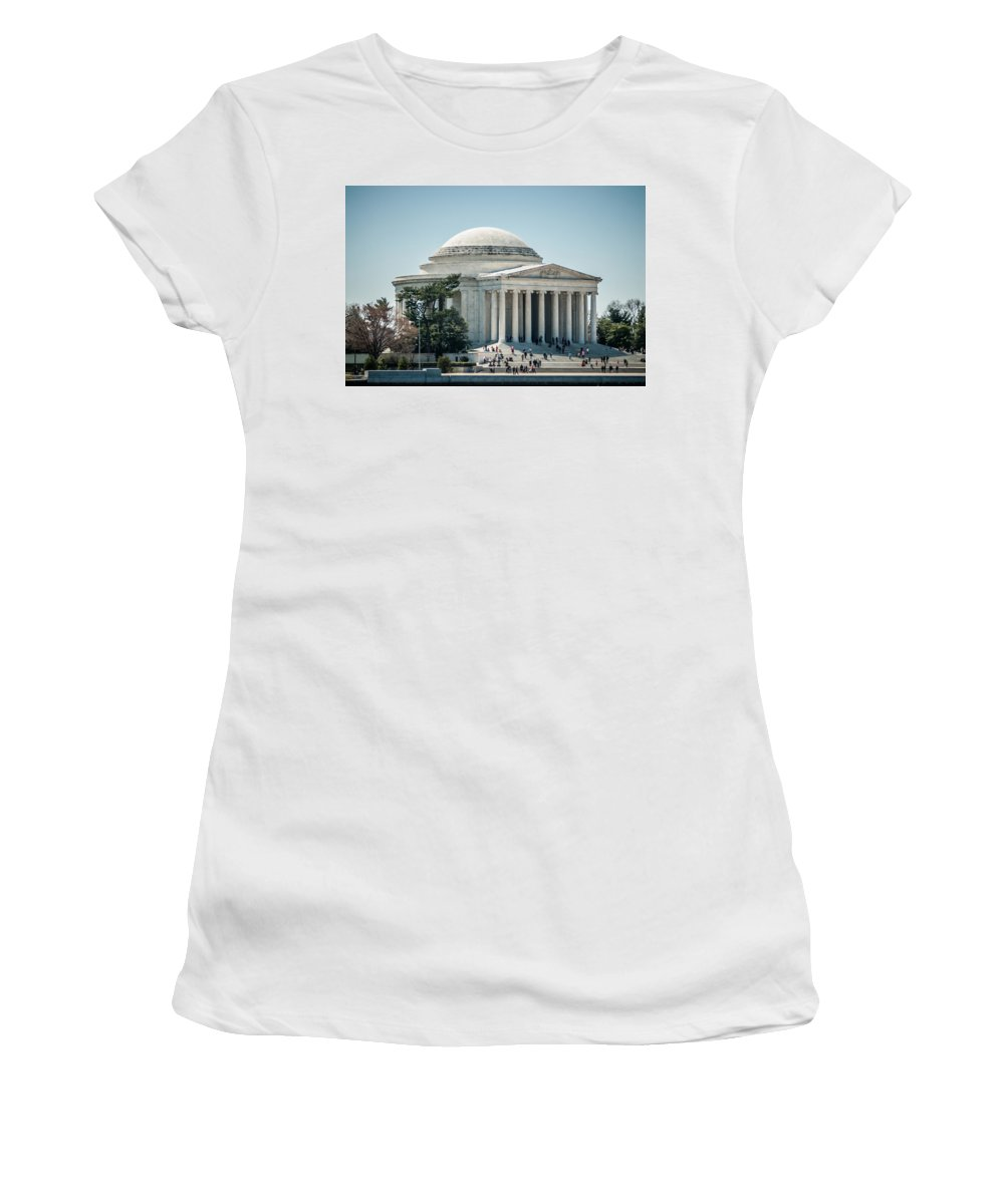 American Women's T-Shirt (Athletic Fit) featuring the photograph Thomas Jefferson Memorial In Washington Dc Usa by Alex Grichenko