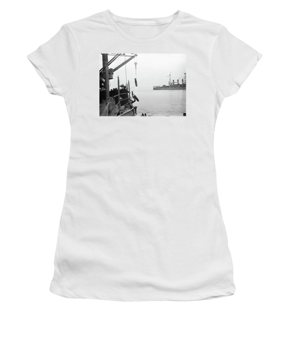 1913 Women's T-Shirt (Athletic Fit) featuring the photograph Torpedo, 1913 by Granger